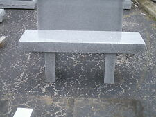 Cemetery memorial bench, 100% granite, gray includes front edge engraving