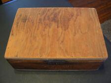 Vintage Corona's 50 Wooden Cigar Box Dovetailed Corners Trinket Storage Box VGC