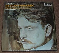 DECCA sxle 6558-61 NB Sibelius The Seven Symphonies Maazel 4xlp Stéréo Box Set