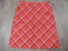 ESPRIT orange rot karierter Sommerrock Gr. 42 TOP ST318