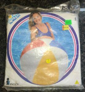 """Vintage 1997 Intex The Wet Set 48"""" Jumbo Ball Inflatable Vinyl Beach Ball 59070"""