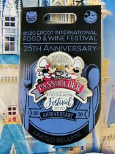 2020 Disney Epcot Food & Wine Festival 25th Mickey Minnie Annual Passholder Pin