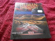 HUMAN ONSLAUGHT RARE STRATEGY  BIG BOX PC GAME NEW/SEALED