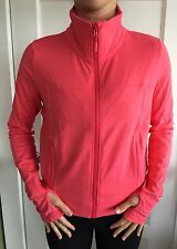 Lululemon Size 6 TADASANA GET STARTED Crop Jacket Coral Pink Mesh Define Stride