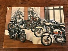 Vintage Triumph Models National Motorcycle Museum Postcard