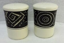 "MIKASA china STAR TRACK pattern Salt & Pepper Shaker SET - 2-7/8"""