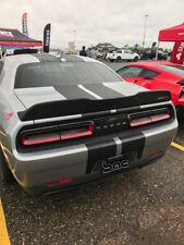 2015-2018 Dodge Challenger Beast Notched Spoiler with Camera Hole Matte Black