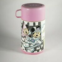 VINTAGE  ALADDIN WALT DISNEY MICKEY MINNIE MOUSE PLASTIC LUNCH BOX THERMOS