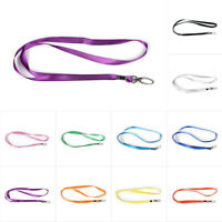 10/20/50/100pcs Lot Neck Strap Lanyard With Strong Metal Clip