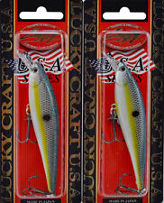 (Lot Of 2) Lucky Craft Pointer 95 5/8Oz Pt95-172 Sexy Chartreuse Shad J9302