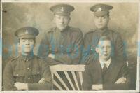WW1 Army Pay and Ordnance corps Royal Irish Rgt Group studio photo