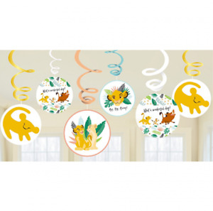 Disney Lion King Party Supplies Birthday Swirl Decorations (12 Pieces)