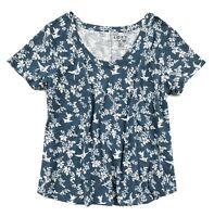 LOFT - Women's Plus Size - NWT - Floral Vines Vintage Soft Cotton Scoop Neck Tee