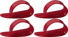4 x Jim Dunlop Red Delrin Medium Gauge Thumbpicks *NEW* 9051R Thumb Picks
