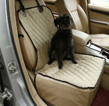 100% Waterproof Non-Slip Premium Front Car Seat Cover For Dog Pet Tan Beige
