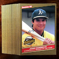1986 Donruss Highlight JOSE CANSECO (RC) ~ 50 CARD LOT ~ 1ST EVER 40/40 MAN