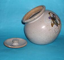 Studio pottery-Handsome large front Opening Biscuit Barrel/Sweet JAR SIGNED