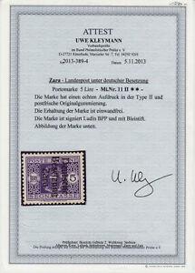Zara Deutsche Besetzung 1943 Portomarke Mi. 11 ** postfrisch Fotoattest Kleymann