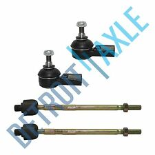 New 4pc Kit: Front Inner and Outer Tie Rod End Links for Honda Civic Acura EL