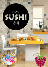 Wall Stickers Vinyl Decal  Food Business Sushi Japan Japanese Kitchen z633