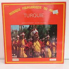 Musique folklorique du monde TURQUIE BLAISE CALAME  CV 1108