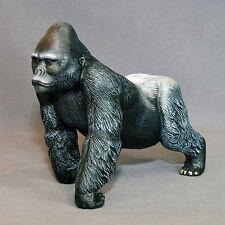 * Silverback Gorilla Bronze Sculpture King Kong Figurina‏ Statue Limited Edition