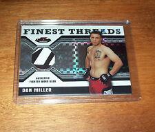 2011 Topps Finest UFC Dan Miller Serial #'d  Fighter Worn Relic Swatch Card
