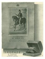 Publicité ancienne parfum Trophée le chevalier D'orsay issue de magazine