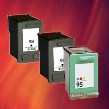 3 HP 98/95 INK FOR HP 98 BLACK HP 95 TRI-COLOR COMBO