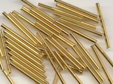 30mm Czech Gold Bugle Loose Glass Beads Jewelry Making Craft 100pcs