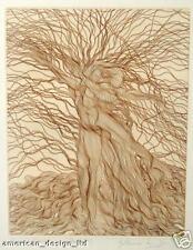Azoulay Alba Tristis Original Art Etching Hand Signed Artwork Tree Branch L@@K