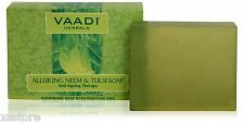 Vaadi Herbals - Alluring Neem and Tulsi Soap 75gm Clean Soft Glowing Skin + free