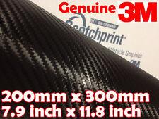 Envoltura Vinilo Negro Fibra Carbón 3M Scotchprint 1080 CF12 300mm x 200mm(A4)