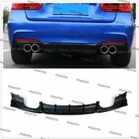Rear Bumper Diffuser Lip Quad Tips For BMW F30 320i 325i 328i 335i M Sport MA