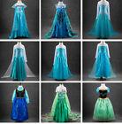 Frozen Déguisement Elsa &Anna Costume La Reine des Neiges Frozen Enfant Fille #