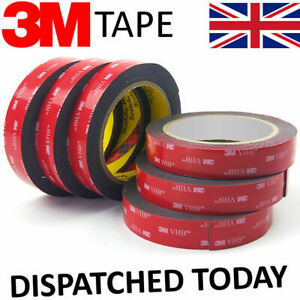 DOUBLE SIDED TAPE 3M VHB HEAVY DUTY ADHESIVE STRONG STICKY TAPE CLEAR GREY