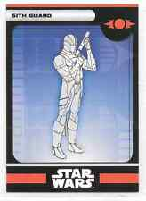 2008 Star Wars Miniatures Sith Guard Stat Card Only Near Mint