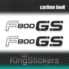 2 ADESIVI F 800 GS BMW STICKERS DECAL moto CARBON LOOK carbonio