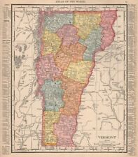 Map Of America Vermont.Vermont County Map Antique North America Atlas For Sale Ebay