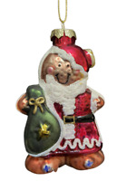 "ORNAMENT Holiday Gingerbread Mrs.Claus Hand Blown Glass Collectible 4"" Tall"