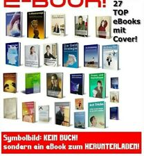 27 TOP EBooks auf deutsch mit Cover Ebook Sammlung e-Books e-Book Paket Neu MRR