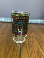 Vintage Arby's Stained Glass Hi Ball Drinking Glass 5""