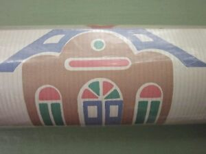 LYNN HOLLYN TOYLAND TOY LAND VICOA WALLPAPER DOUBLE ROLL 70 Sq Ft NEW Vintage