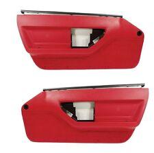 84 85 Corvette C4 Standard Door Panels - Pair in Red