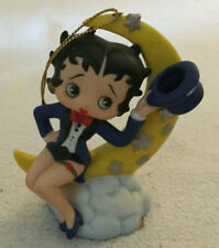 Betty Boop Ceramic Musical Ornament Betty On Cloud And Crescent Moon