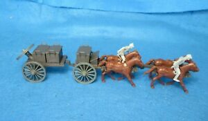 Civil War Limber + caisson with 4 horse team+ Reb outriders, 1/32 plastic CTS