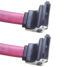750mm RED Serial ATA SATA II data cable HDD/DVD Keyed Left Right Angled Angle
