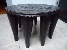 antique Nigerian 10 leg nupe tribal stool