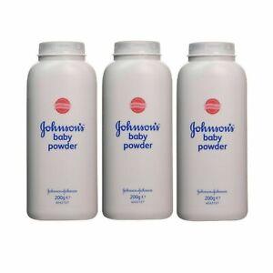 Johnson's Baby Powder | 200g Talc Talcum Powder | 3 Powder/Pack. New