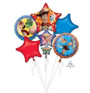 Disney Marvel DC Nickelodeon Themed 5pc Birthday Supershape Foil Balloon Bouquet